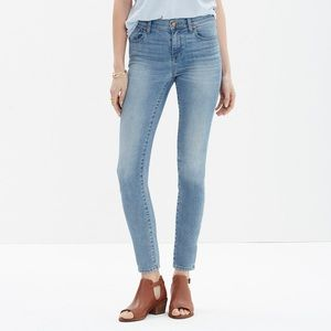 Madewell high rise skinny crop jeans in mazzy wash